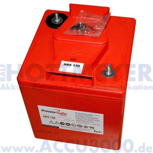 6V, 132.0Ah (C10), EnerSys PowerSafe SBS130
