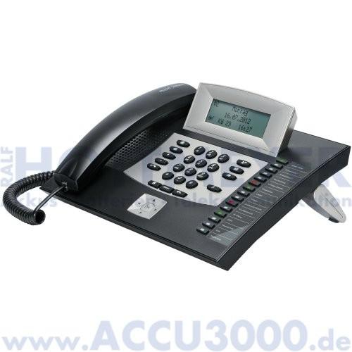 Auerswald COMfortel 1600 - schwarz - Systemtelefon mit beleuchtetem Touchdisplay