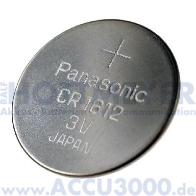 Panasonic Lithium Power CR1612 - 3V, 25mAh, 16 x 1.2mm