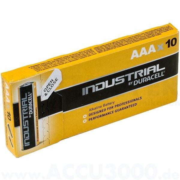 Duracell Industrial ID2400 Micro LR03 - 1.5V, Tray, 10 Stück