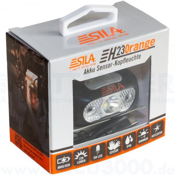 Sila H230range Akku Sensor-Kopfleuchte / Stirnlampe, 230 Lumen