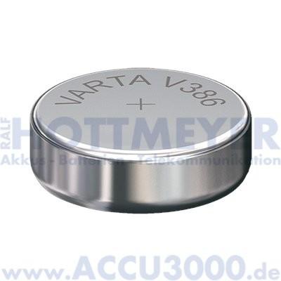 Varta Silber 386 (V386) - SR-43 - SR1142W, 1.55V - Uhrenbatterie, High Drain