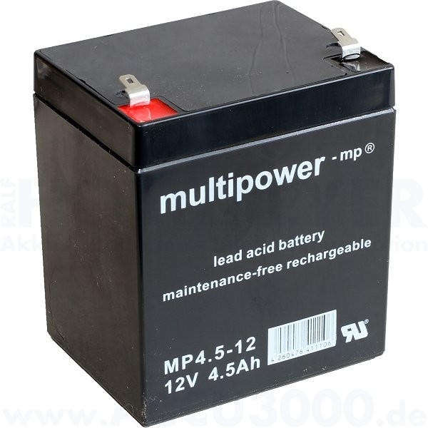 12V, 4.5Ah (C20), Multipower MP4.5-12