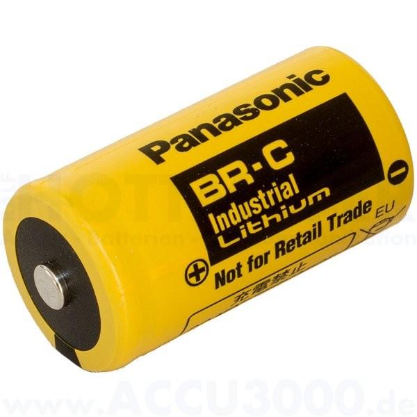 Panasonic Lithium Battery BR-C (Baby C) - 3V, 5000mAh - 26 x 50mm