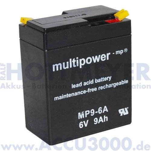 6V, 9.0Ah (C20), Multipower MP9-6A