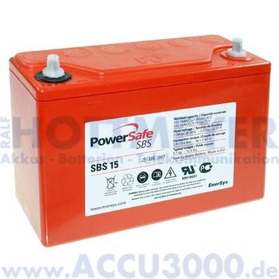 12V, 15.0Ah (C10), EnerSys PowerSafe SBS15
