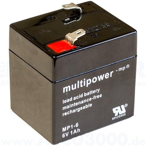 6V, 1.0Ah (C20), Multipower MP1-6