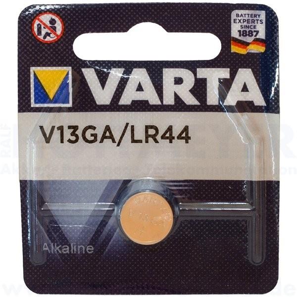 Varta Alkaline V13GA, LR44 - 1.5V, 11.6 x 5.4mm