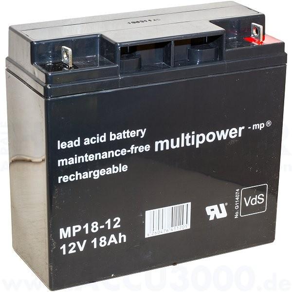 12V, 18.0Ah (C20), Multipower MP18-12