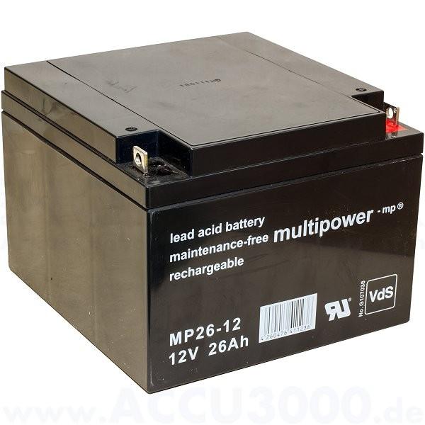 12V, 26.0Ah (C20), Multipower MP26-12