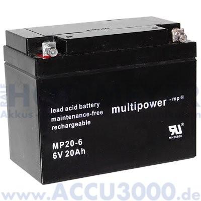 6V, 20.0Ah (C20), Multipower MP20-6