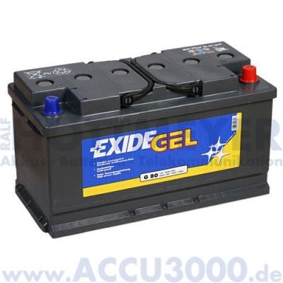 12V, 80.0Ah (C20), Exide Equipment Gel ES900 (G80)