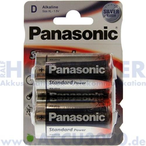 Panasonic Standard Power LR20 Mono D - 1.5V - 2er Pack