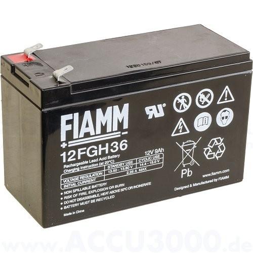 12V, 9.0Ah (C20), Fiamm 12FGH36 (FGH20902), Hochstromfest