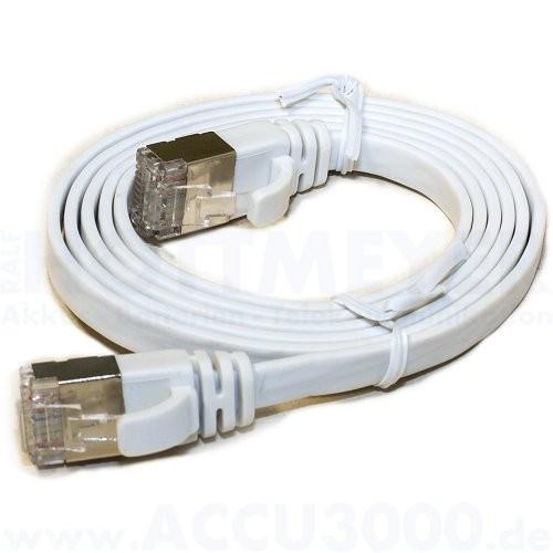 equip CU Patch-Japankabel S/FTP, 1m - Cat.6a 10G Flachkabel weiß
