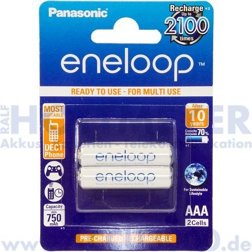 Panasonic Akku NiMh BK-4MCCE/2BE eneloop, Micro AAA