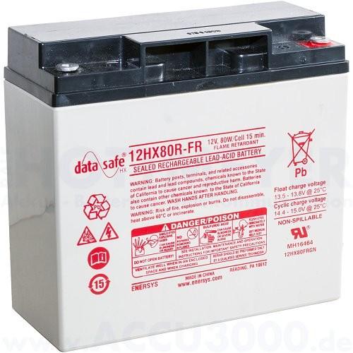 12V, 16.0Ah (C20), EnerSys DataSafe HX80R-FR