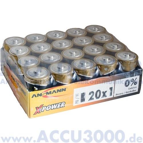 Ansmann X-Power, Mono D LR20 - 1.5V, 20 Stück