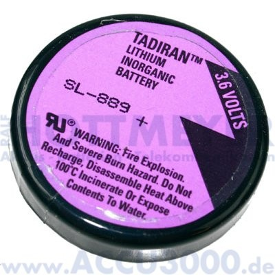 Tadiran SL-889/P, 1/10 D, 3.6V, 1000mAh - 3er Print