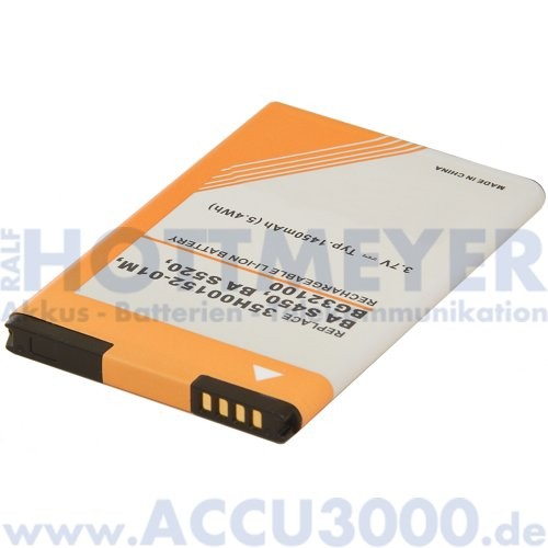 Akku f. HTC Vision - 1100mAh, Li-Ion - Kompatibler Handyakku