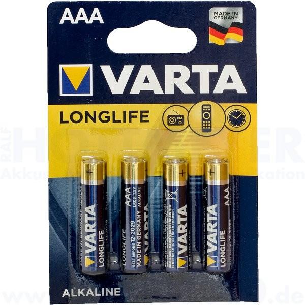 Varta LONGLIFE Micro AAA - 1.5V - 4er Blister