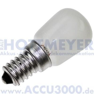 mLight Birnenformlampe E14 25W matt - für Kühlschrank und Gefrierschrank - 195Lumen