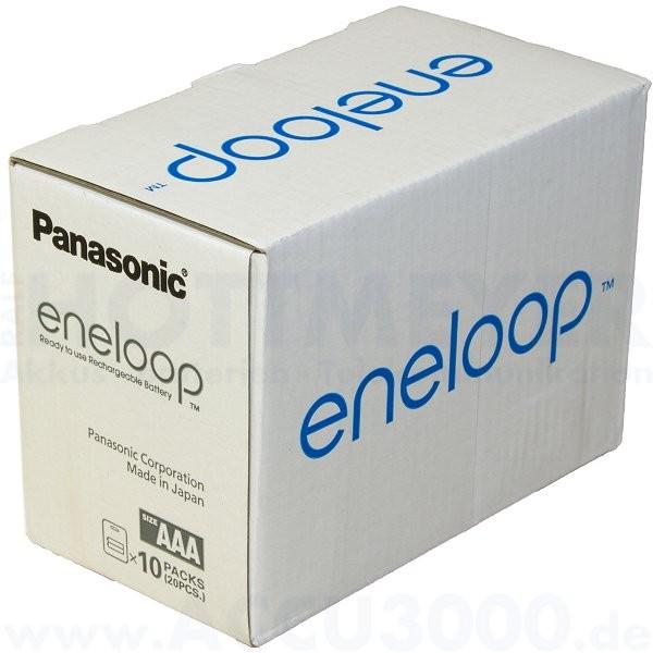 Panasonic eneloop Micro AAA - 1.2V, 750mAh, 20 Stück