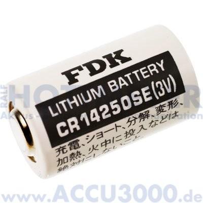 FDK CR-14250SE, 1/2AA - 3.0V, 850mAh - 14.5 x 25mm