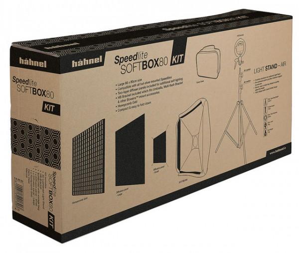 Hähnel Speedlite SoftBOX80 Kit - Kompatibel mit allen mobilen Blitzgeräten