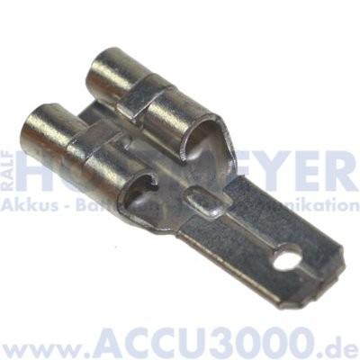 Flachsteckeradapter für Bleiakkus 6.3/4.8 - von Faston 250 (6.3mm) auf Faston 187 (4.8mm)