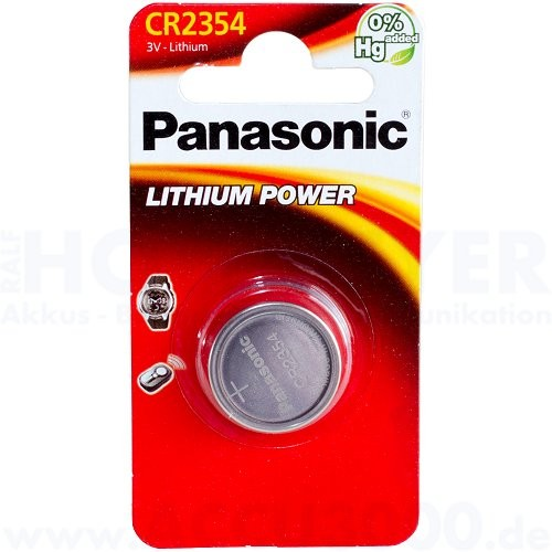 Panasonic Lithium Power CR2354 - 3V, 560mAh, 23 x 5.4mm