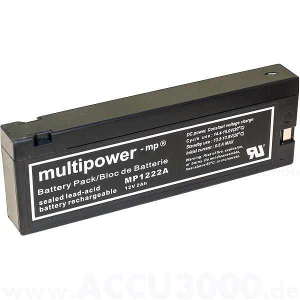 12V, 2.0Ah (C20), Multipower MP1222A
