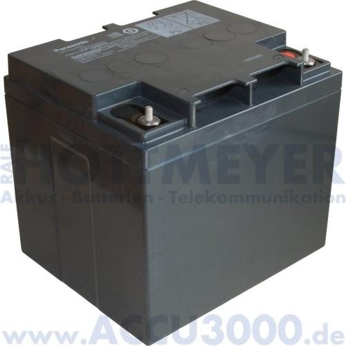 12V, 38.0Ah (C20), Panasonic LC-P1238APG
