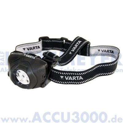 Varta LED x5 Indestructible Head Light - inkl. 3x AAA Batterien - Power Line - [17730]