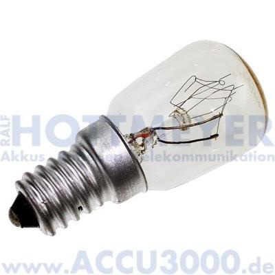 mLight Birnenformlampe E14 25W klar - für Kühlschrank und Gefrierschrank - 195Lumen