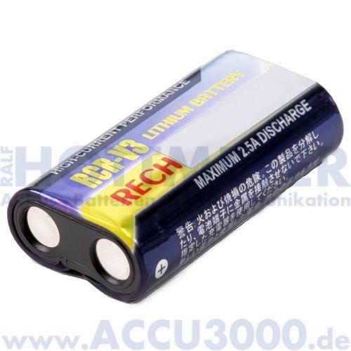 Ersatz-Akku RCR-V3 - 3.0V, 1100mAh, Li-Ion - Aufladbarer Fotoakku