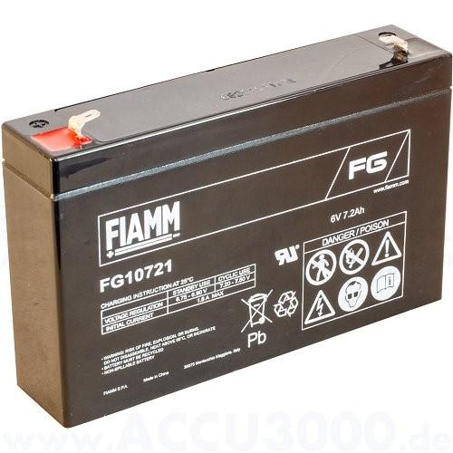 6V, 7.2Ah (C20), Fiamm FG10721