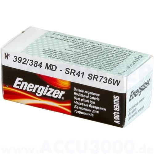 Energizer Silber 392/384 MD - SR-41 - SR-736W - 1.55V, 10er Pack