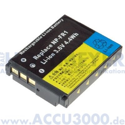 Akku f. Sony NP-FR1 - 3.6V, 1100mAh, Li-Ion