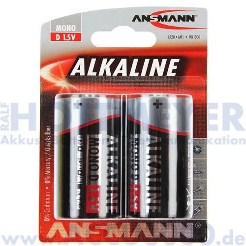 Ansmann Alkaline RED, Mono D LR20 - 1.5V, 2er Blister