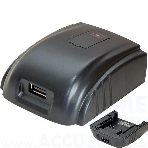 USB Powertool Adapter für Milwaukee 18V Ausgangsleistung max. 2.1A