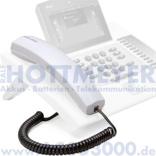 Auerswald COMfortel Hörer, lichtgrau (weiß) - inkl. Hörer-Spiralkabel